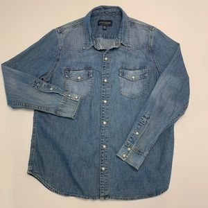 Lucky Brand Western Shirt Denim Large
